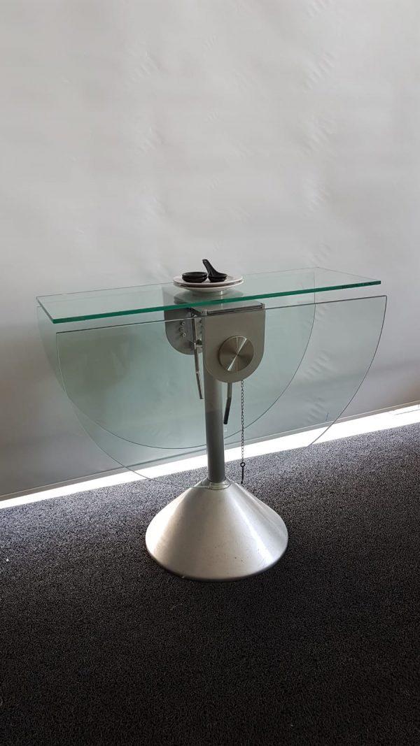 Mesa comedor tapa cristal plegable